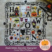 The Frosted Pumpkin Stitchery - Halloween Spooky Sampler_THUMBNAIL