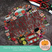 The Frosted Pumpkin Stitchery - Cherry Blossom Festival Sampler_THUMBNAIL