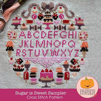 The Frosted Pumpkin Stitchery - Sugar Is Sweet Sampler MAIN