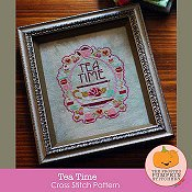 The Frosted Pumpkin Stitchery - Tea Time_THUMBNAIL