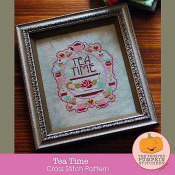 The Frosted Pumpkin Stitchery - Tea Time MAIN