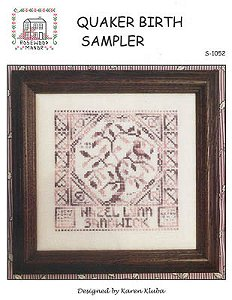 Rosewood Manor - Quaker Birth Sampler MAIN