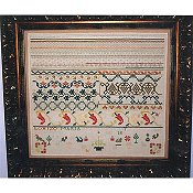 Samplers Remembered - Chili Pepper Sampler - Maria Blaza Moran 1820