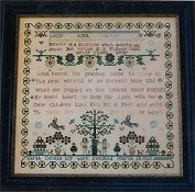 Samplers Remembered - Sarah Gentle 1821