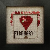 Heart In Hand Needleart - Joyful Journal - February THUMBNAIL