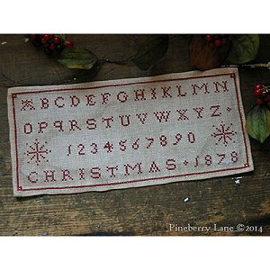 Pineberry Lane - Christmas 1878 Marking Sampler MAIN