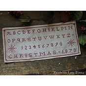 Pineberry Lane - Christmas 1878 Marking Sampler