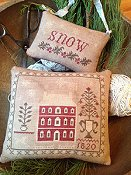 Stacy Nash Primitives - Snowed In Pinkeep & Ornament
