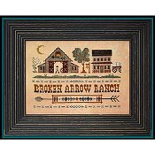 Little House Needleworks - Tumbleweeds 4 - Broken Arrow Ranch-