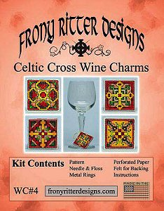 Frony Ritter Designs - Celtic Cross Wine Charms Kit_MAIN