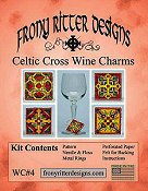 Frony Ritter Designs - Celtic Cross Wine Charms Kit