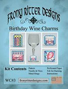 Frony Ritter Designs - Birthday Wine Charms