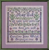 Tempting Tangles Designs - Bedtime Blessing Birth Sampler