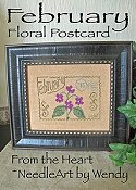 From The Heart - Floral Postcard - February