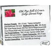 Jeannette Douglas Designs - ABC Pyn Roll & Crown Tulip Thread Keep Embellishment Pack