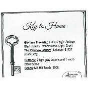 Jeannette Douglas Designs - Key to Home Embellishment Pack