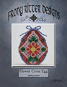 Frony Ritter Designs - Flower Cross Egg THUMBNAIL