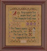 Elizabeth's Designs - Antique Songbird Sampler