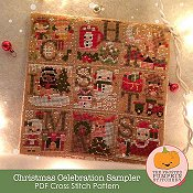 The Frosted Pumpkin Stitchery - Christmas Celebration Sampler_THUMBNAIL