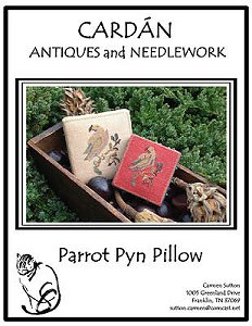 Cardan Antiques and Needlework - Parrot Pyn Pillow MAIN