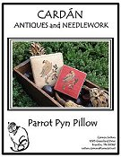 Cardan Antiques and Needlework - Parrot Pyn Pillow