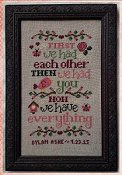 Cherry Hill Stitchery - Now We Have Everything Birth Sampler