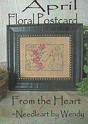 From The Heart - Floral Postcard - April