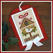 Country Cottage Needleworks - Classic Collection #9 - Christmas Birdhouse THUMBNAIL