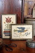 Heartstring Samplery - Fraktur Bird & Bouquet