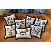 Priscilla's Pocket - Stoneware Pinpillows II