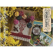 Summer House Stitche Workes - Postcards From The Heart - #5 Flora THUMBNAIL