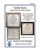 Dutch Treat Designs - Family Rules
