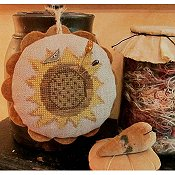 Homespun Elegance - Sunflower  Love Pin Cushion