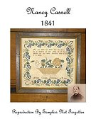 Samplers Not Forgotten - Nancy Cassell 1841 THUMBNAIL