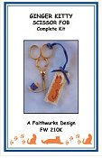 Faithwurks Designs - Ginger Kitty Scissor Fob Kit_THUMBNAIL