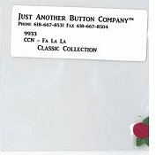 Jabco Button Pack - Country Cottage Needleworks - Classic Collection #11 - Fa La La