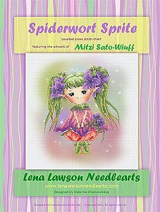 Lena Lawson Needlearts - Spiderwort Sprite MAIN