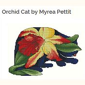 Lena Lawson Needlearts - Orchid Cat