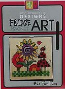 Amy Bruecken Designs - Fridge Art Magnet - #23 Sun Day THUMBNAIL