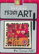 Amy Bruecken Designs - Fridge Art Magnet - #24 Summer ABC THUMBNAIL