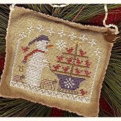 Homespun Elegance - 2015 Snowman Ornament - Snow Birds In Tow