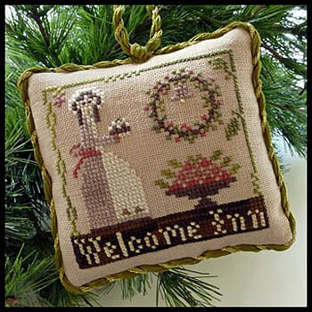 Little House Needleworks - The Sampler Tree Ornament Series - #9 Welcome Inn MAIN