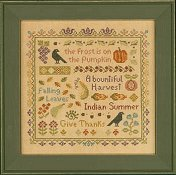 Elizabeth's Designs - Antique Autumn Sampler