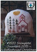 Thistles - Snowglobe Ornament 2015 A Schoolhouse Christmas