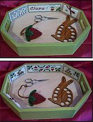 The Stitching Parlor - The Strawberry Patch Needlework Tray THUMBNAIL