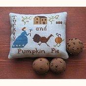 Primitive Needleworks - Turkey and Pumpkin Pie
