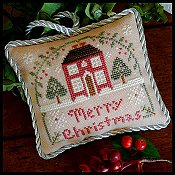 Little House Needleworks - The Sampler Tree Ornament Series - #10 Merry Christmas
