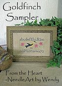 cover of From The Heart - Goldfinch Sampler cross stitch