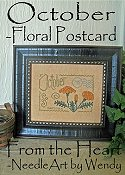 From The Heart - Floral Postcard - October