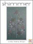 cover of Carolyn Manning Designs - Shimmer cross stitch tree